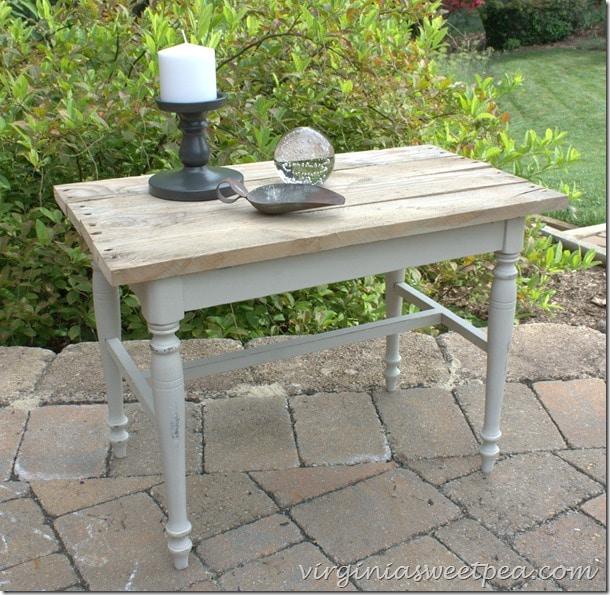 DIY Industrial Table (Vanity Bench Makeover)