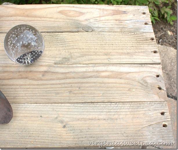 Pallet wood table top - virginiasweetpea.com