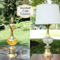 A 1960's lamp purchased a Goodwill get a makeover. virginiasweetpea.com