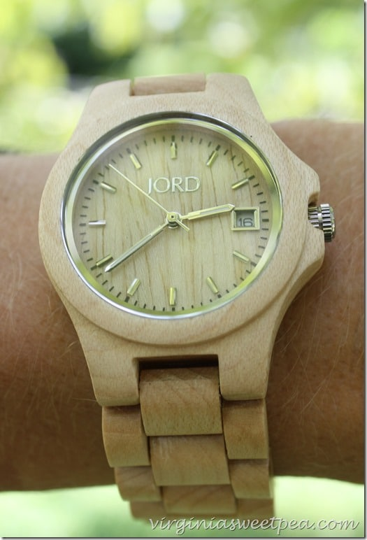 Have you ever seen a wooden watch?  This maple beauty is by Jord.  #jordwatch