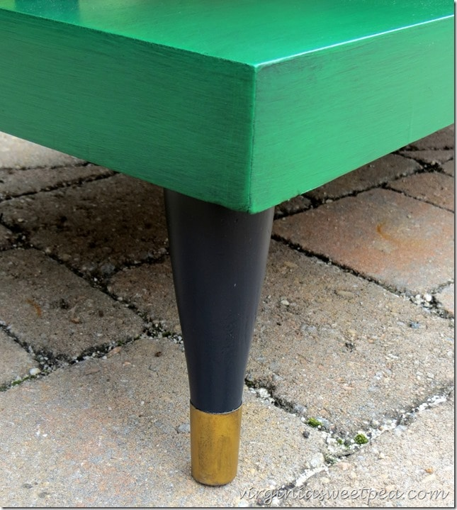 Mid-Century Coffee Table Leg Detail