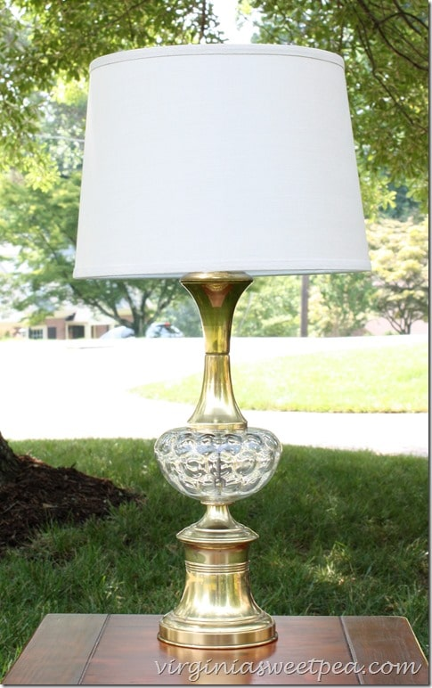 A 1960's lamp purchased a Goodwill get a makeover. virginiasweetpea.com #mid-century