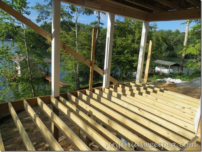 Smith Mountain Lake House - Covered Porch View
