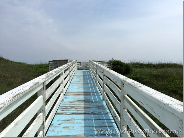 Original walkway to beach from 1946 Nags Head home.