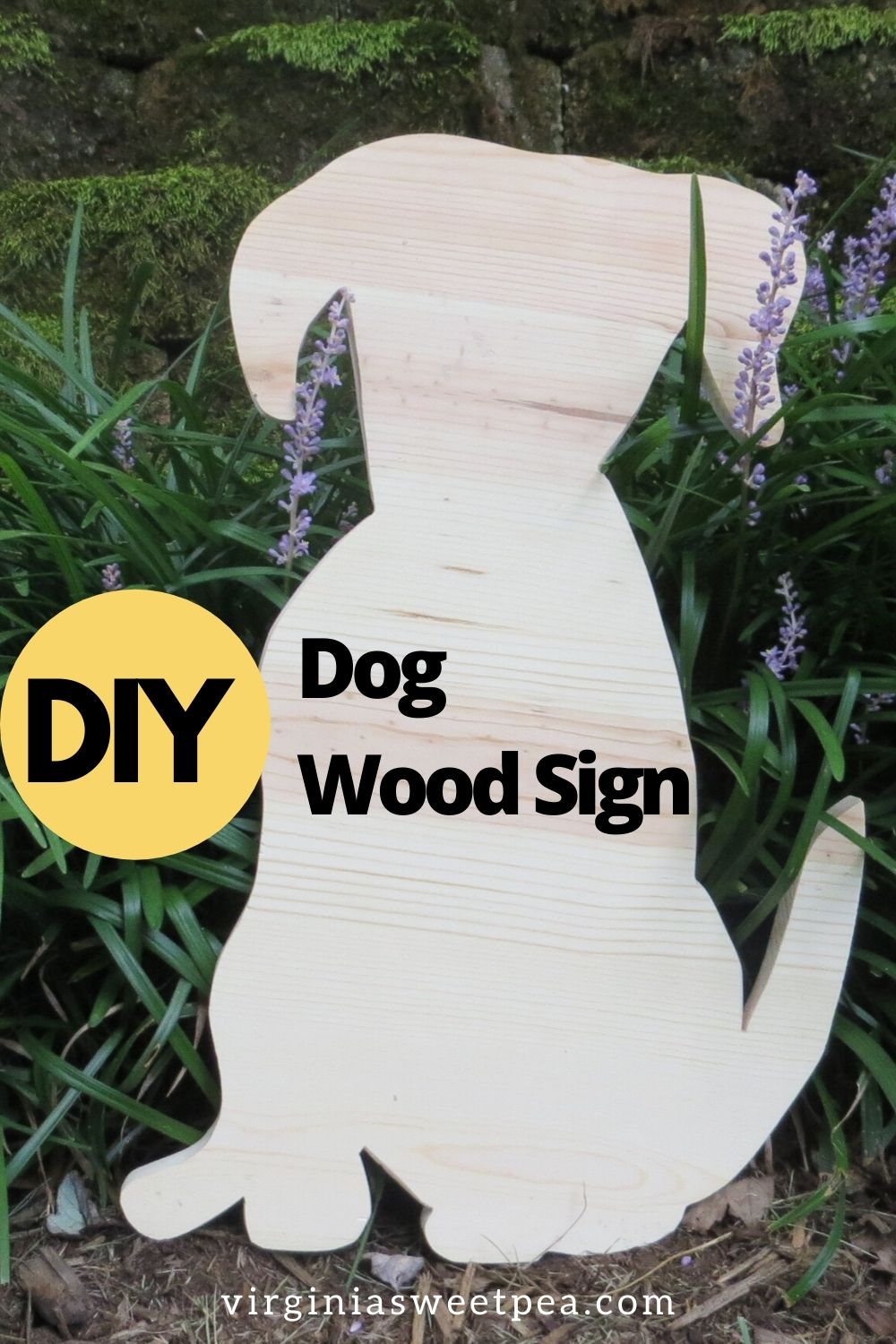 DIY Dog Wood Sign - Learn how to make a sign in the shape of a dog.  Stain or paint your dog and then hang for unique home decor.   via @spaula