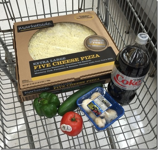 Pizza from Walmart