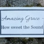 Amazing Grace Stenciled Sign