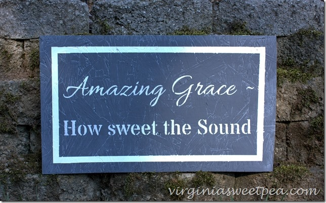 Make an Amazing Grace stenciled sign using this easy to follow tutorial.