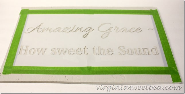 How to make an Amazing Grace stenciled sign