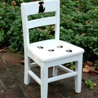 This dog themed painted child's chair is charming! virginiasweetpea.com