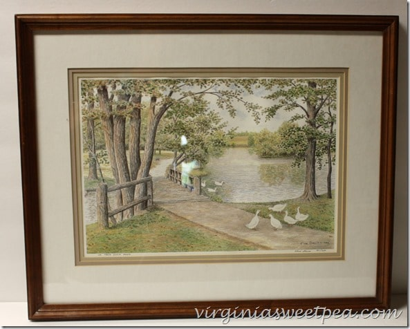 Elva Davis print from 1986. Virginia Tech Duckpond