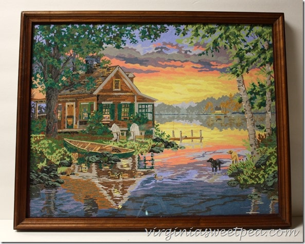 Lake scene paint-by-number scored at Goodwill