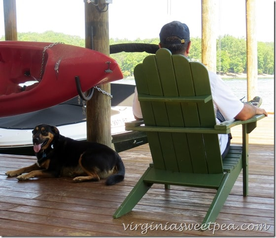 Sherman Skulina relaxes on the dock at SML in Virginia.  #sml