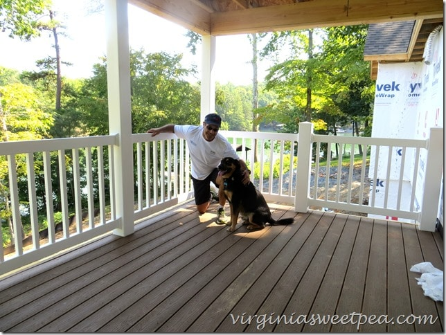 Sherman Skulina enjoys the deck at SML in Virginia.