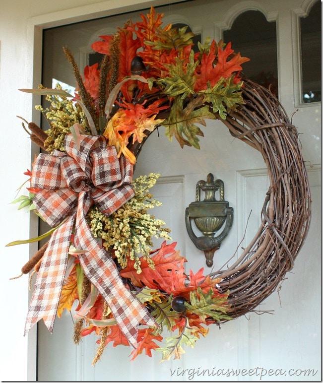 A beautiful wreath for fall!