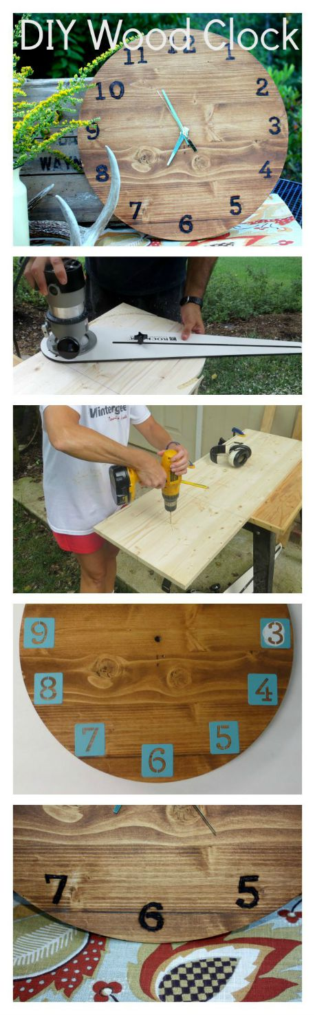 DIY Wood Clock - Learn to Make Your Own Clock - virginiasweetpea.com