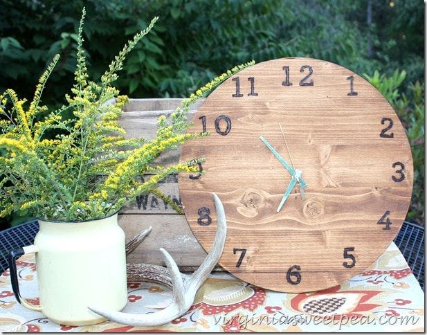 Make your own DIY clock. It's not as hard as you think! virginiasweetpea.com