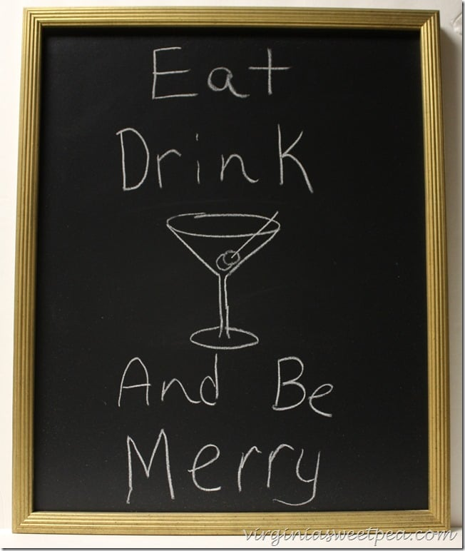 Eat, Drink and Be Merry DIY Chalkboard