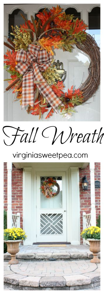 Make a wreath for fall