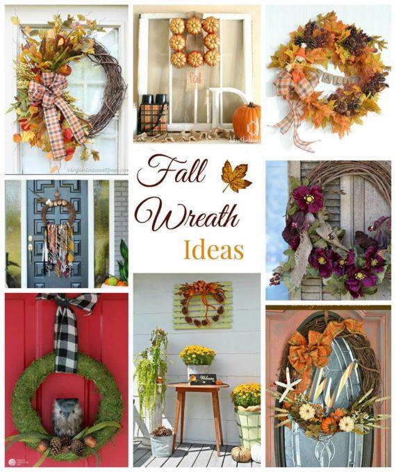 Fall Ideas Tour - Eight Wreath Ideas