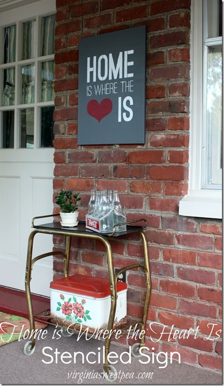 Home is Where the Heart Is Stenciled Sign Using an Art Canvas - virginiasweetpea