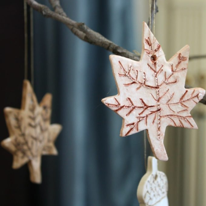 How to Make Fall Ornaments from Clay - virginiasweetpea.com