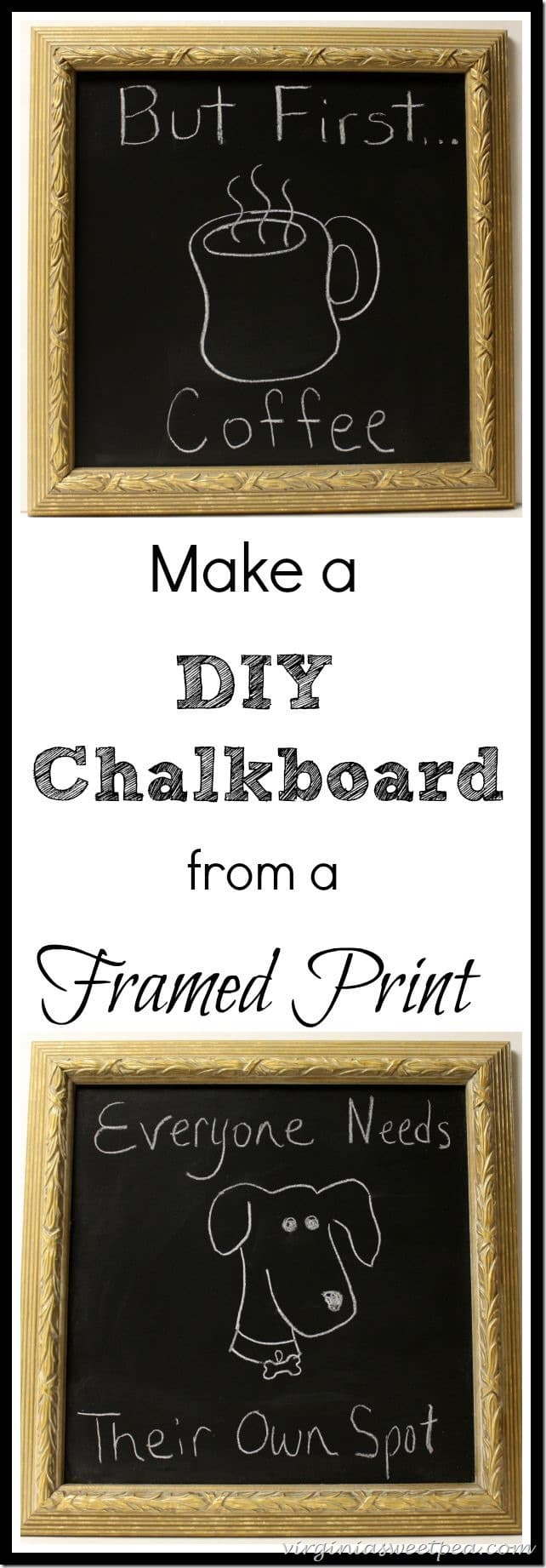 How-to-make-a-diy-chalkboard-from-a-framed-print-virginiasweetpea
