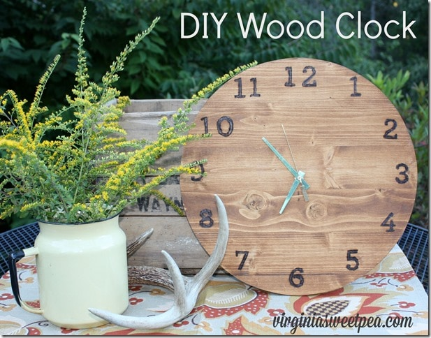 Make Your Own DIY Wood Clock by virginiasweetpea.com