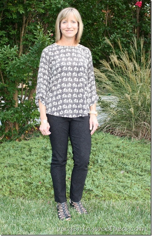 September 2015 Stitch Fix - Pixley Ellie Elephant Print Blouse
