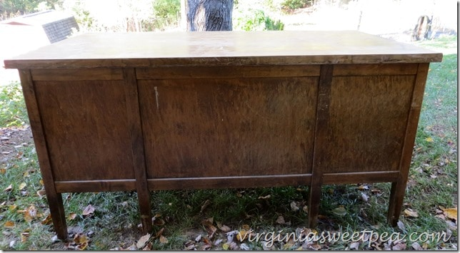 Antique Teacher's Desk Before - Vintage Teacher's Desk Makeover - Sweet Pea