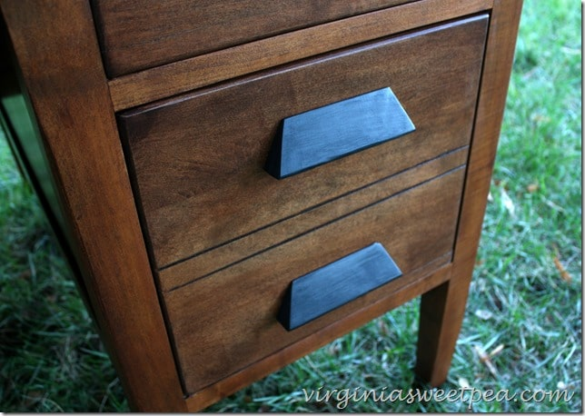 Antique Teacher's Desk Makeover with Stain - Filing Drawer Detail - Vintage Teacher's Desk Makeover - Sweet Pea