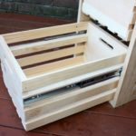 DIY Crate Cabinet with Sliding Drawers