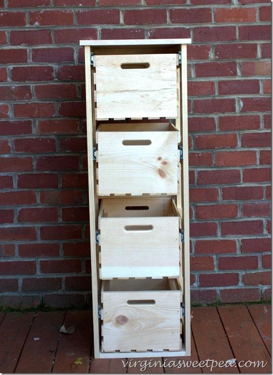 DIY Crate Storage Cabinet