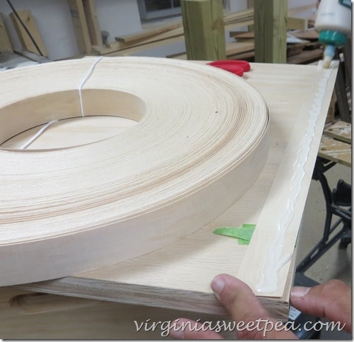 Gluing Wood Veneer to the Cabinet Top