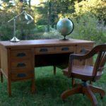 Vintage Teacher's Desk Makeover