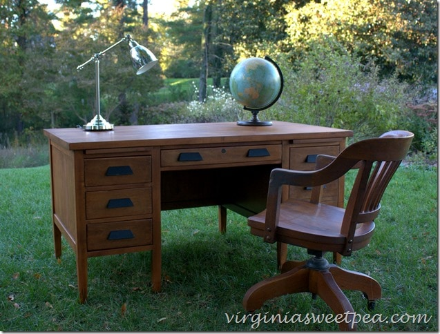 Goodwill found teacher's desk makeover by virginiasweetpea.com