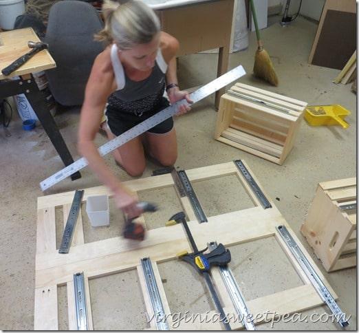 Installing Slides on the Cabinet Sides