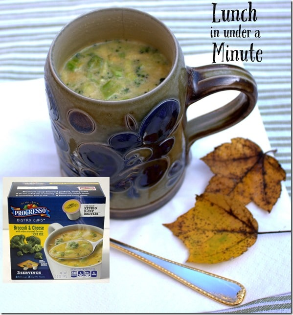 Lunch in Under a Minute with Progresso Bistro Cups - Very Tasty, too!
