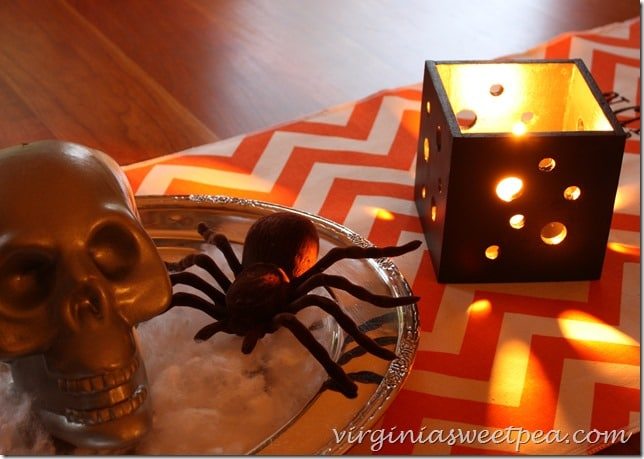 Pierced Wood Candle Holders for Halloween. Make your own with this easy to follow tutorial!