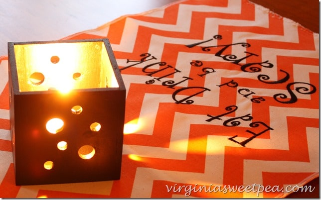 Pierced Wood Candle Holders for Halloween. This is an easy DIY!