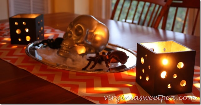 Pierced Wood Candle Holders for Halloween. Make your table look frightfully spectacular!