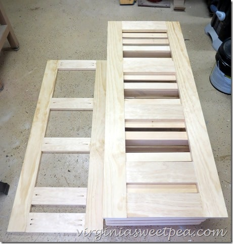 Sides of DIY Crate Cabinet