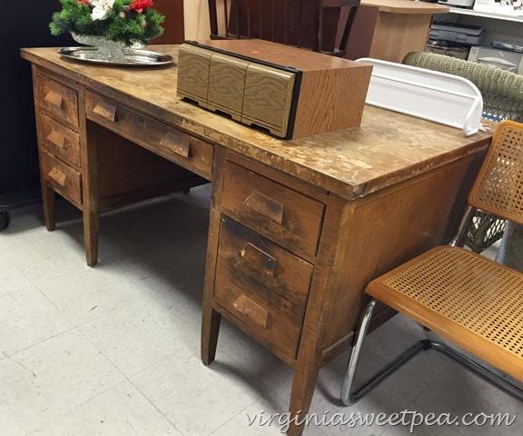 Vintage Teacher's Desk Makeover Sweet Pea