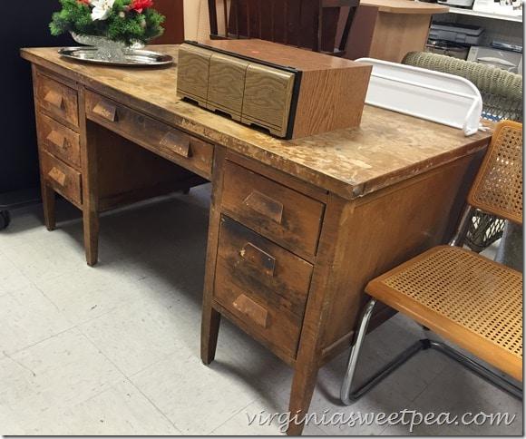 Astounding Vintage Teachers Desk Makeover Sweet Pea Interior Design Ideas Inamawefileorg