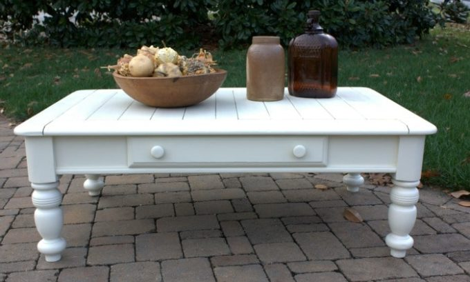 Cottage Style Coffee Table Makeover Sweet Pea