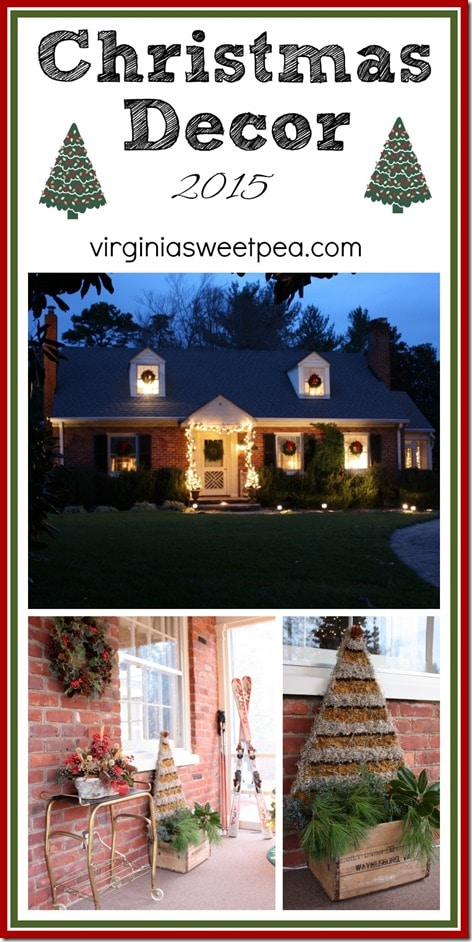Christmas Decor 2015 - Tour a southern home's outdoor and porch decor. Vintage loves be sure to stop here!