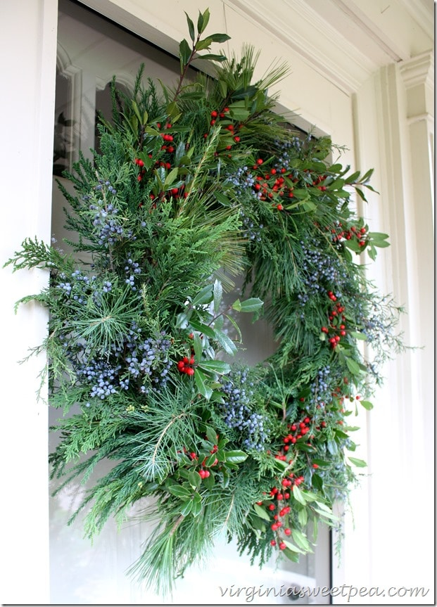Christmas Wreath - Side View