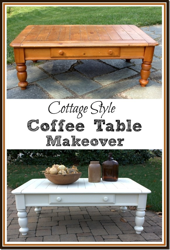Cottage Style Coffee Table Makeover By