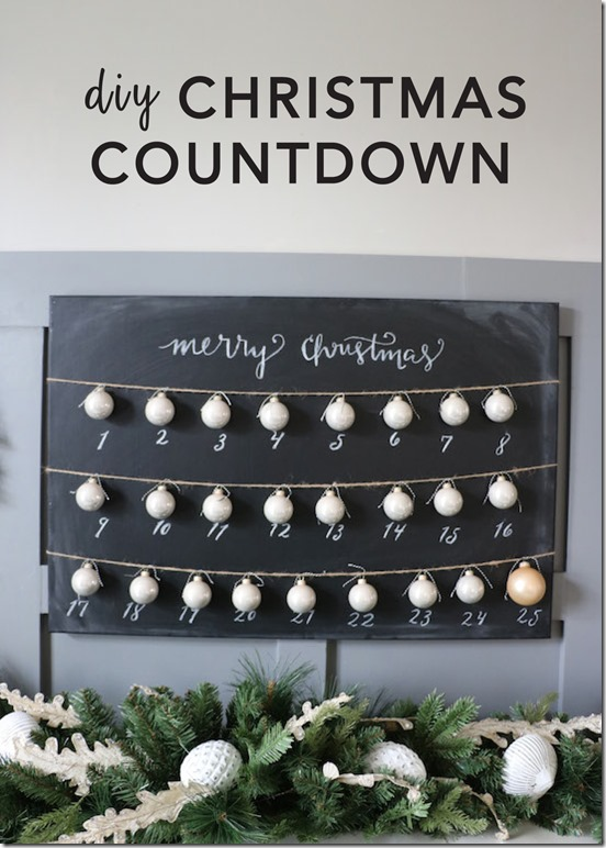 DIY Christmas Countdown Craft