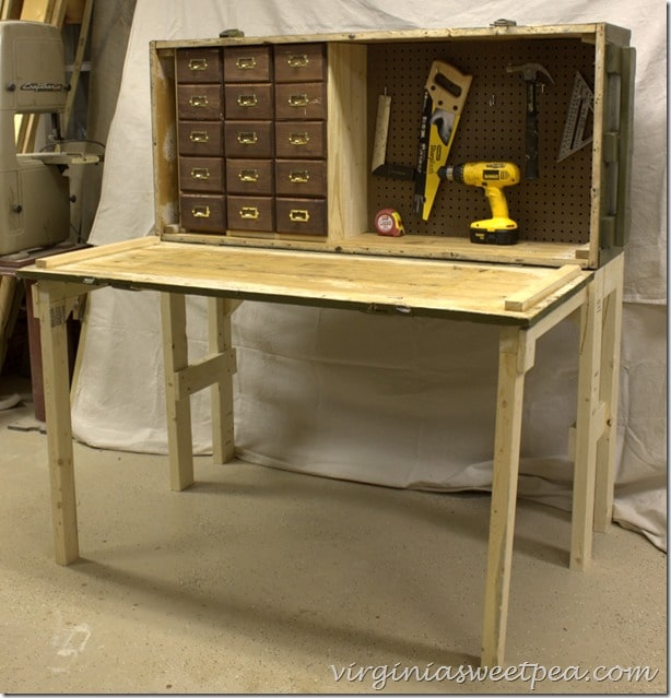 DIY Work Bench - This awesome work bench is made from a Russian Rifle Case